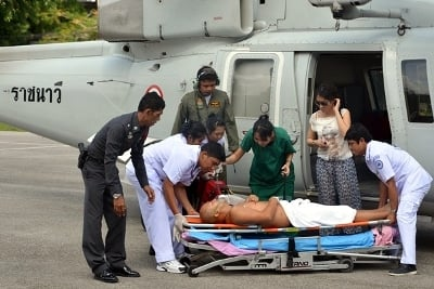 """Chinese tourist airlifted to Phuket """"recovering well' 