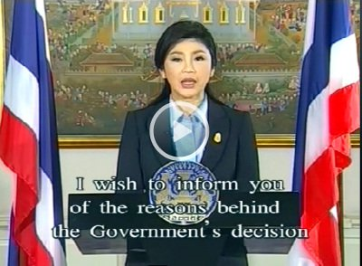 PM Yingluck addresses nation ahead of fears of violence at Bangkok protest | The Thaiger