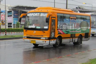 Phuket Airport bus forced off the road by repairs | The Thaiger