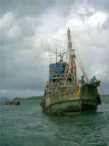 Trawler sinks off Phuket after collision with barge | The Thaiger