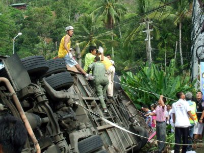 One man dead in Phuket bus tragedy | The Thaiger