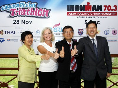 Gov lauds PPAO sponsorship of Laguna Phuket Triathlon   The Thaiger
