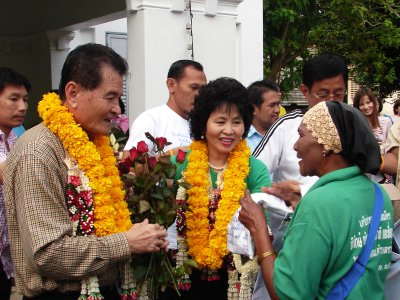 Phuket governor and wife bid farewell | The Thaiger