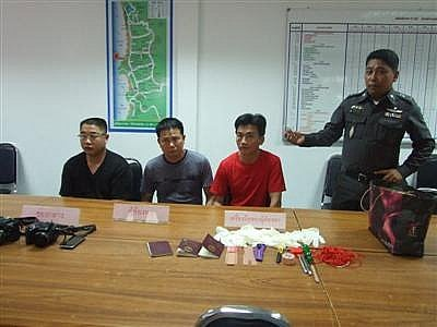 Phuket police nab Chinese 'stopover thieves' | The Thaiger