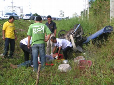 Mobile cart vendor severely injured on Phuket bypass road | The Thaiger
