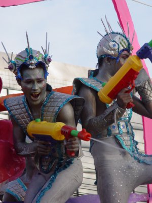 Songkran splashdown in Old Phuket Town | The Thaiger