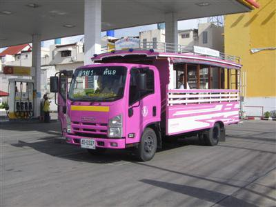 Phuket Town's pink bus fleet set to double | The Thaiger