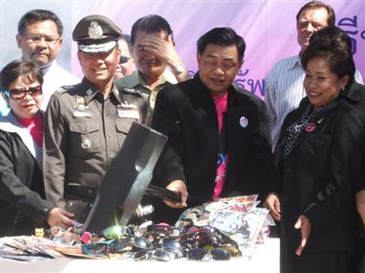 Hammertime in Phuket: counterfeit goods destroyed | The Thaiger