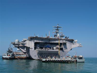 USS Nimitz arrives in Phuket | The Thaiger