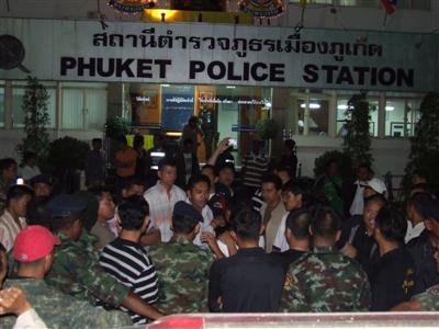 Three Phuket City cops face transfer after nightclub beating   Thaiger
