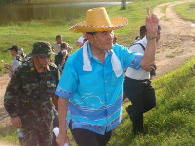 Phuket Governor treks and checks road project land | The Thaiger
