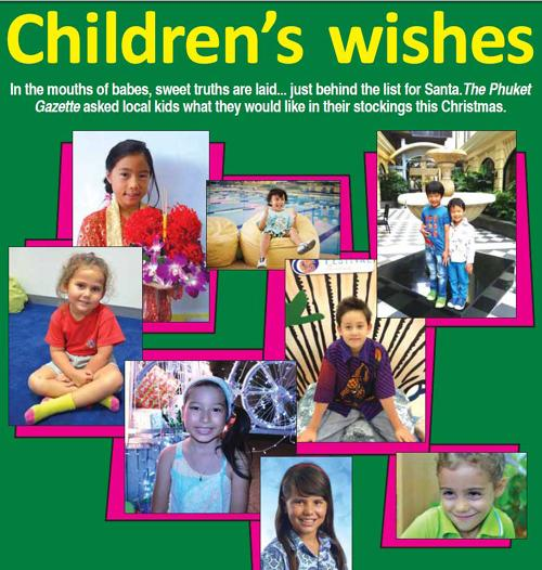 Phuket Lifestyle: Children's Christmas wishes | The Thaiger
