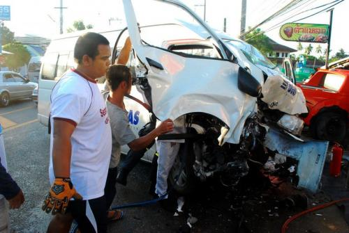 """Police charge """"real driver' over lethal tour van crash 