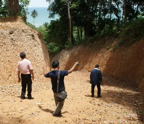 Steep road construction investigated, locals fear landslides across the bay from Phuket | The Thaiger