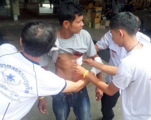 Burmese man slashed in Phuket gas pump fracas | The Thaiger