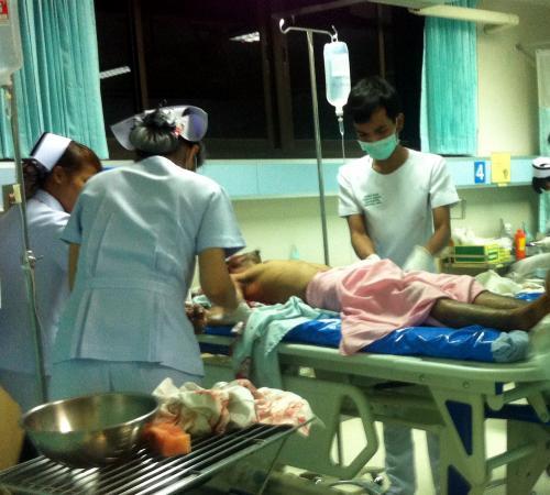 Burmese Rambo stabbed in Phuket slap flap   The Thaiger