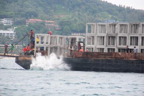 Phuket artificial reef project continues off Kata, Karon bays   Thaiger