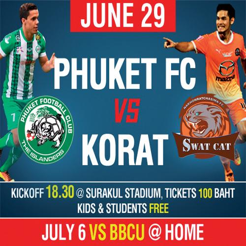 Phuket FC look to skin Korat Swat Cats tonight | The Thaiger
