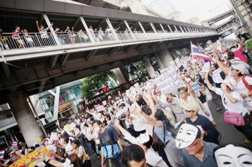 Police hunt for those behind Bangkok bomb attack near pro-democracy protest site | Thaiger