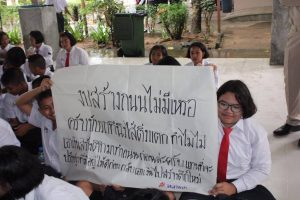 Students protest at Srinagarindra the Princess Mother School | News by Thaiger
