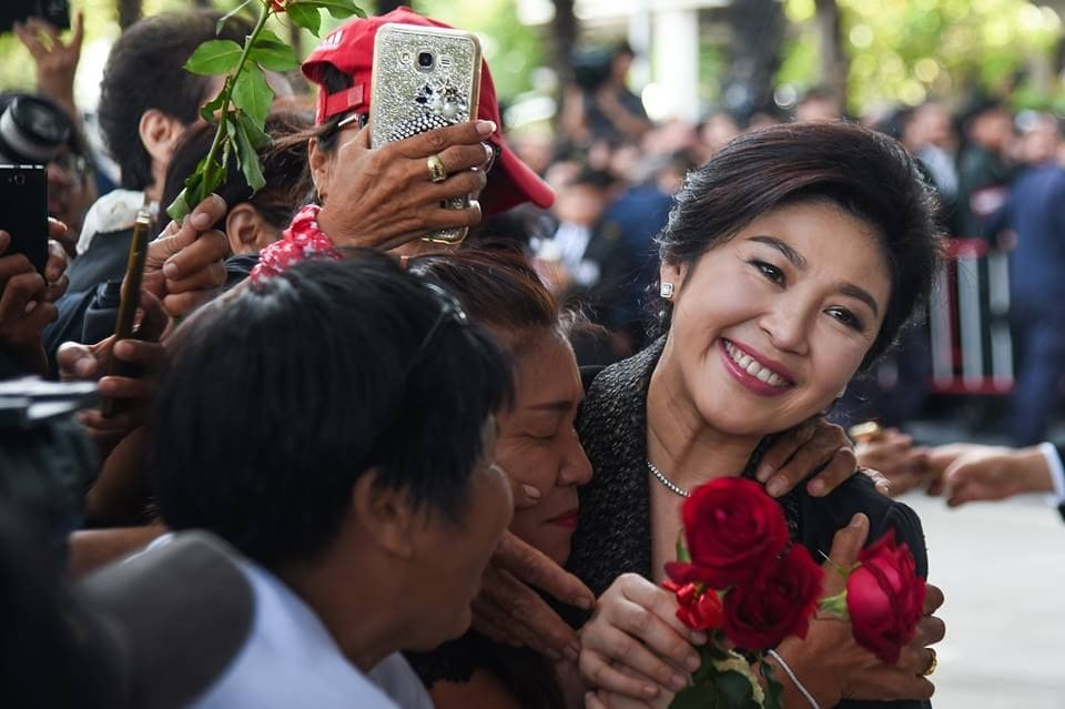 Yingluck says she'll stay out of politics | The Thaiger