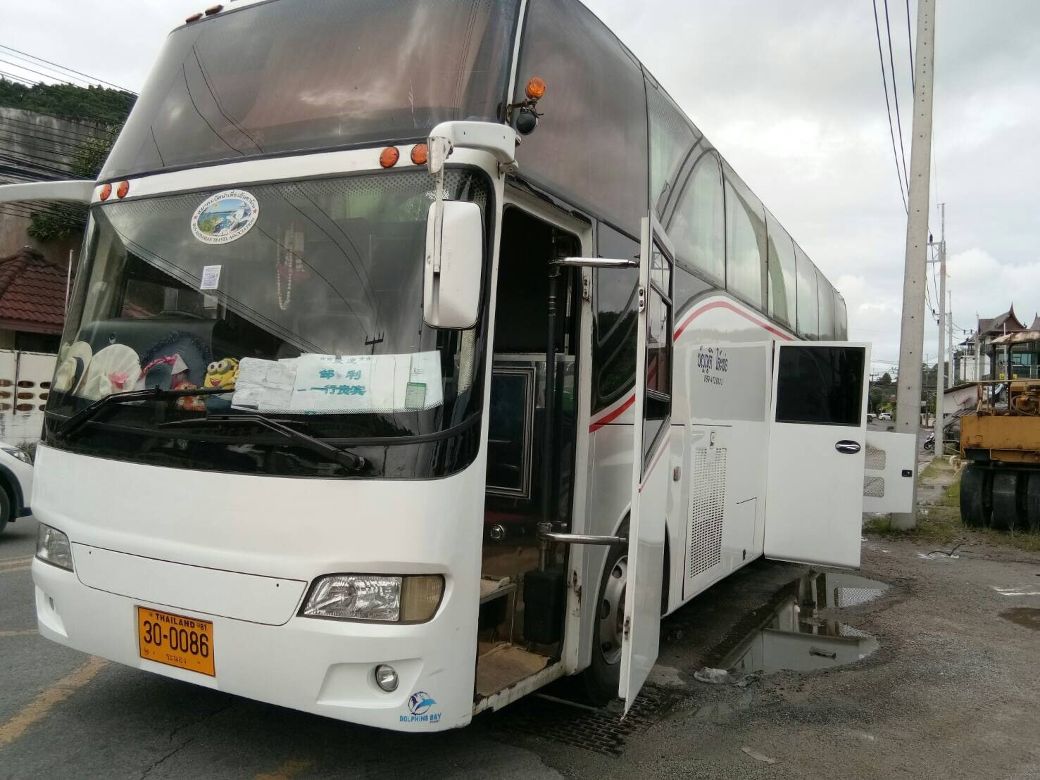 Chinese tour bus catches fire – no injuries | The Thaiger