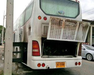 Chinese tour bus catches fire - no injuries | News by Thaiger