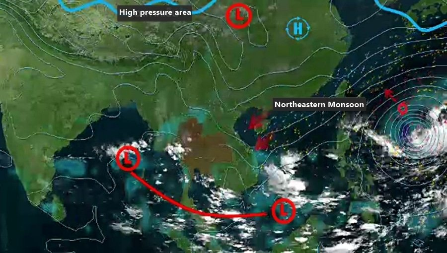 Storm forming over South China Sea and heading our way | The Thaiger