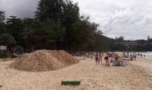 Surin Beach locals not happy with MaAnn's retention wall | News by Thaiger