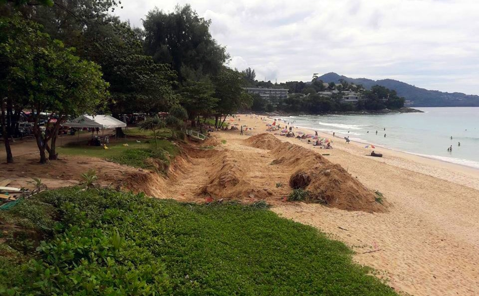Surin Beach locals not happy with MaAnn's retention wall | The Thaiger