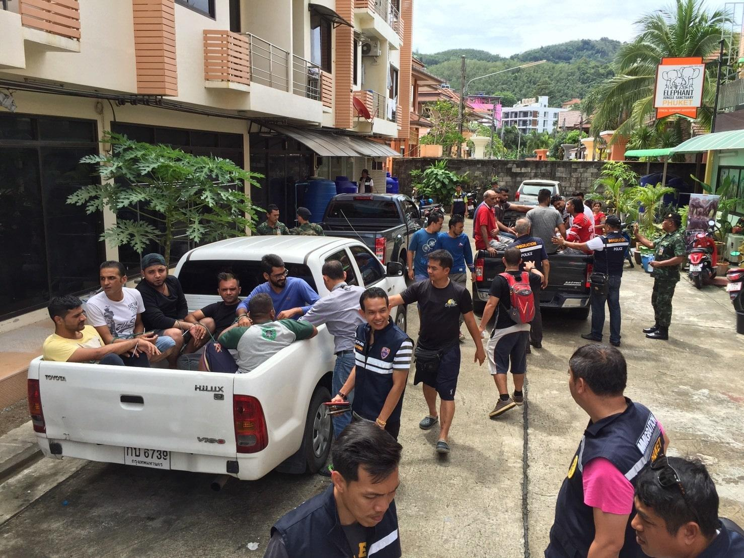 883648f994 Phuket Immigration Police arrest 95 illegal foreigners