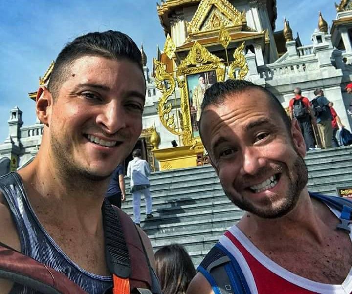 U.S. tourists held for baring bums at Thai temple