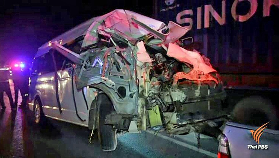 Van fatality in Saraburi – one dead and eight injured | The Thaiger