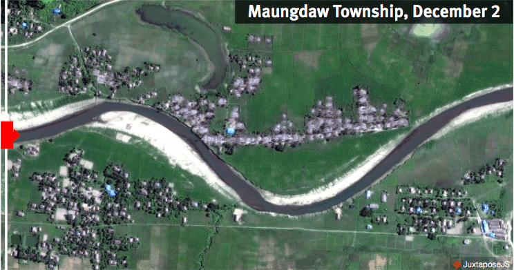 Satellite imagery shows new destruction in Rakhine State | The Thaiger