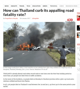 How can Thailand curb its appalling road fatality rate? | News by The Thaiger