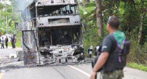 Southern militants torch passenger bus   News by Thaiger