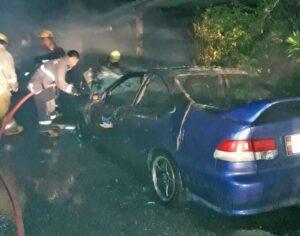 Honda ablaze in Phuket town | News by Thaiger