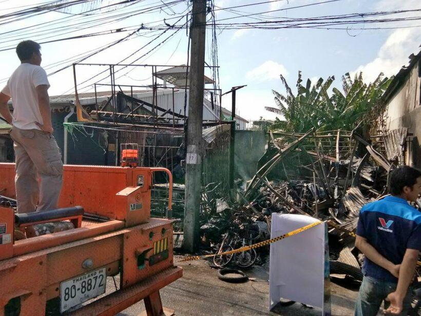 UPDATE: Blaze near Surakul Stadium damages local shops | The Thaiger