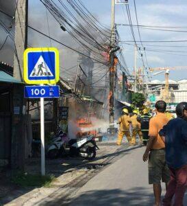 UPDATE: Blaze near Surakul Stadium damages local shops   News by Thaiger
