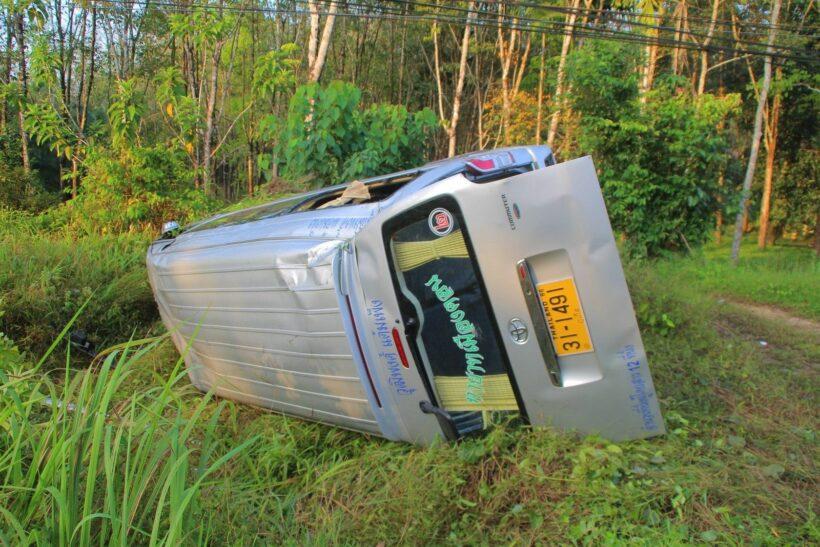 Van crashes near Khao Lak | The Thaiger