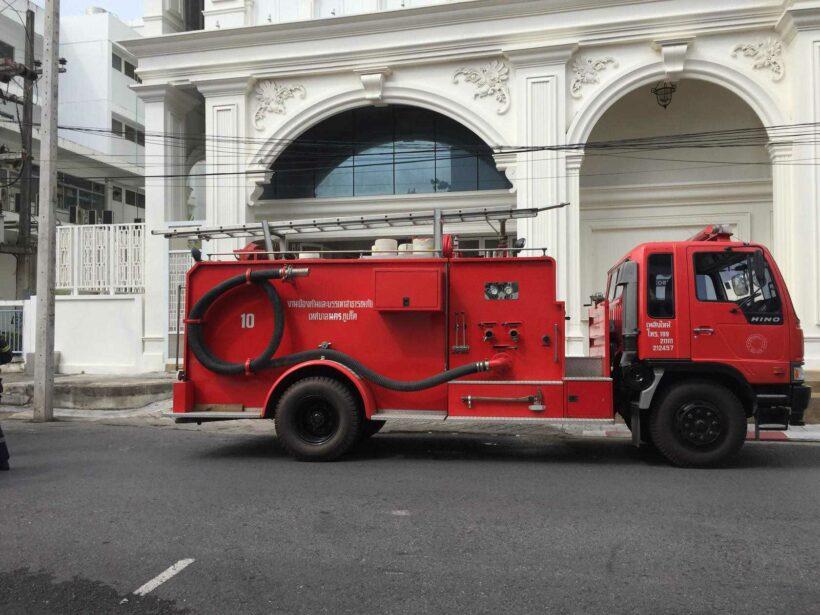 เพลิงไหม้เครื่องปรับอากาศ ชั้น 4 ธนาคารกสิกรไทย สาขาภูเก็ต เสียหายเล็กน้อย เจ้าหน้าที่ควบคุมเพลิงได้อย่างรวดเร็ว   The Thaiger