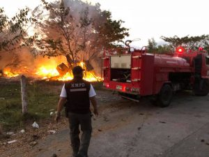 Brush fire destroys old worker's camp in Kathu | News by Thaiger