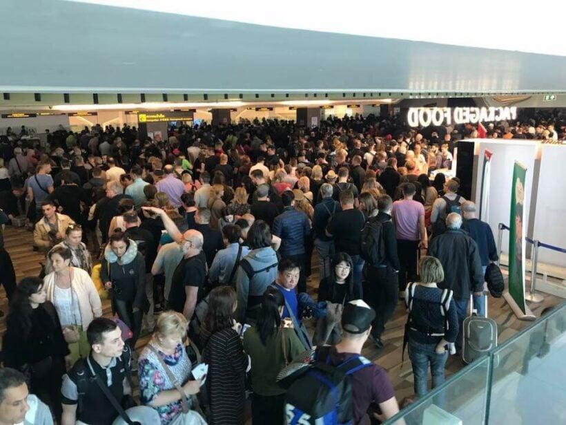 Big crowds and long waits at Phuket airport after runway closure | The Thaiger