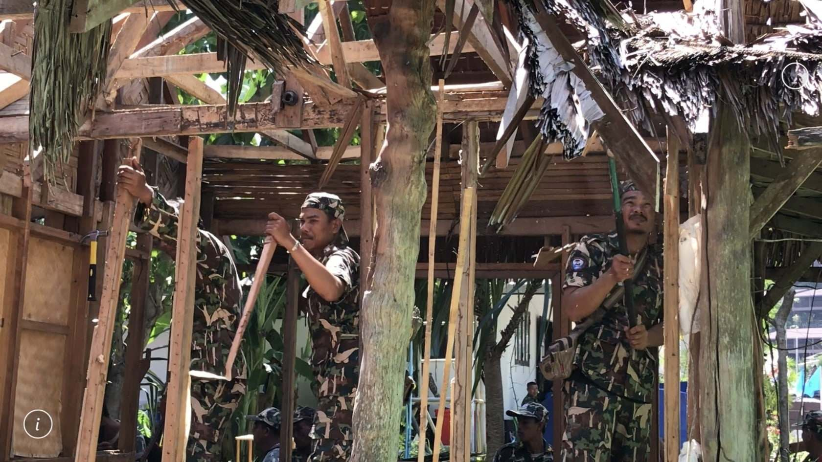 Six buildings demolished for encroaching national park land on Phi Phi | The Thaiger