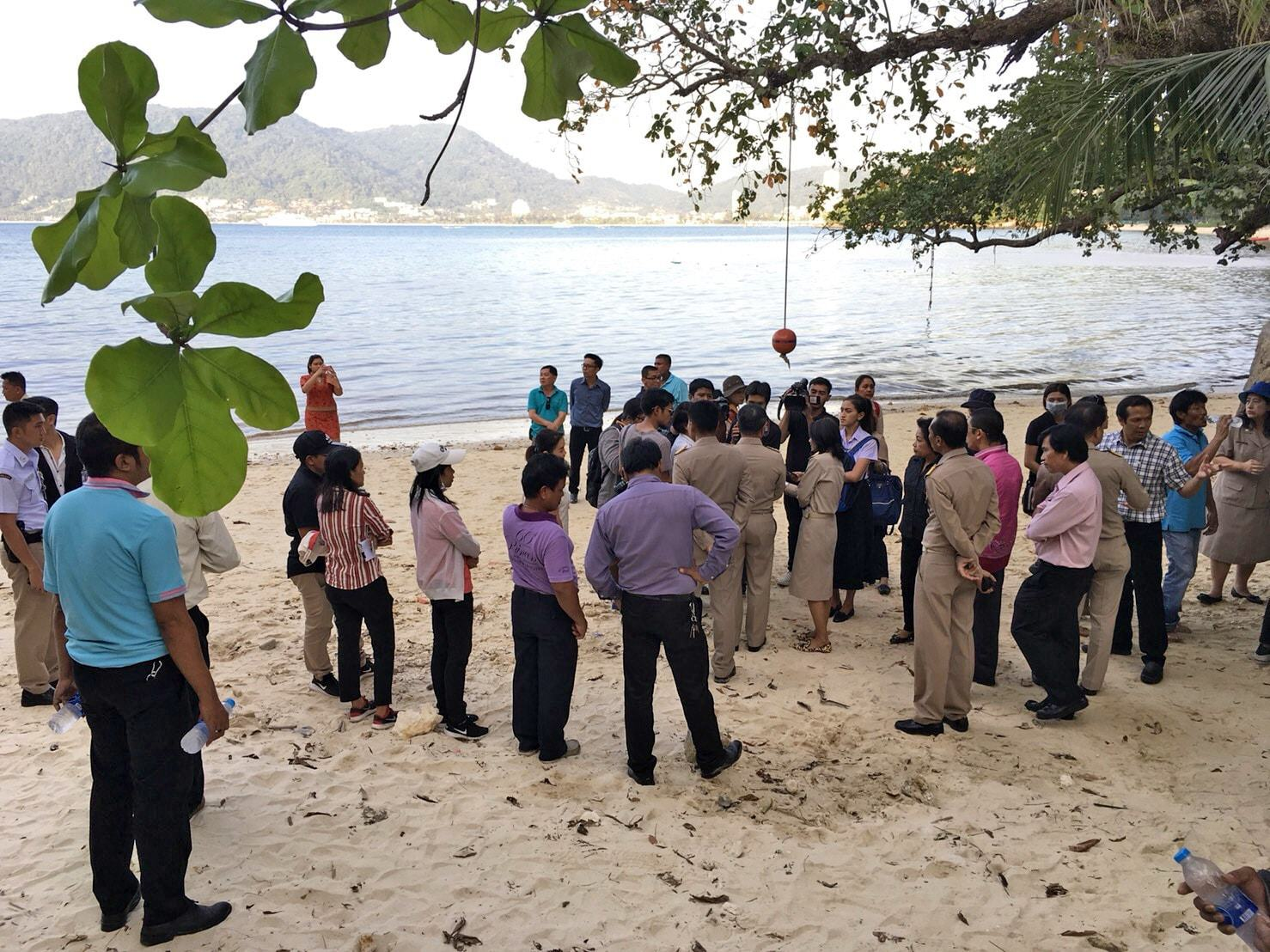 Phuket's Governor visits Tritrang Beach to inspect action over effluent | The Thaiger