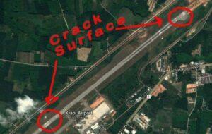 Krabi Airport's runway damaged   News by Thaiger
