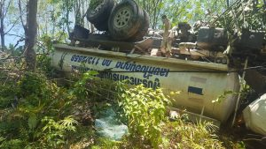 Water truck careers off Patong Hill, killing one | News by The Thaiger