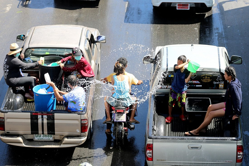 Songkran back-flip | The Thaiger