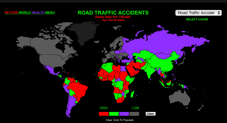 Thailand Number 14 in road accident ratings. Which is the most dangerous country on the roads? | News by Thaiger