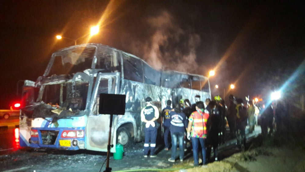Driver says fire started in luggage compartment - Tak bus tragedy | News by Thaiger